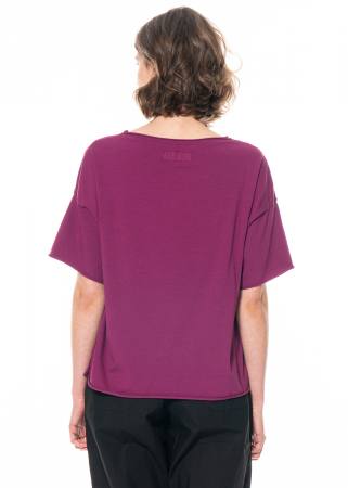 LABO.ART, Kurzarm-Sweatshirt Maglia Zante plum
