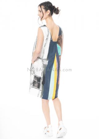 annette görtz, dress Mari with all-over print inspired by Egon Schiele