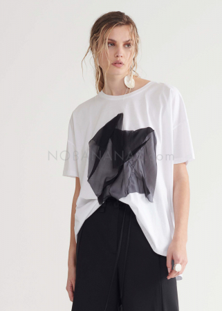 SYMETRIA, T-shirt with silk application