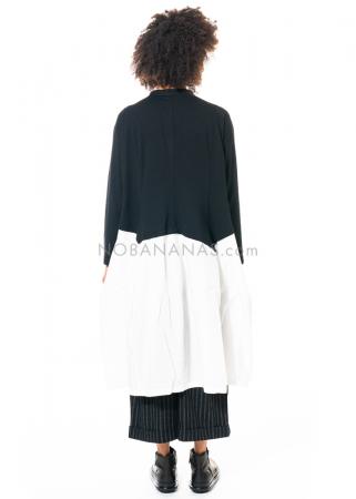 Moyuru, schwarz-weißes Blusenkleid in Einheitsgröße 203001