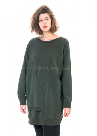PAL OFFNER, langes asymmetrisches Sweatshirt