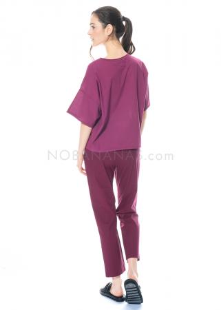 LABO.ART, elastische Hose Panta Lim Parana plum