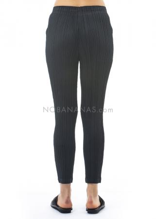 PLEATS PLEASE ISSEY MIYAKE, schmale Hose mit Taschen in Schwarz