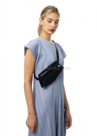 PLEATS PLEASE ISSEY MIYAKE, belt bag in dark blue