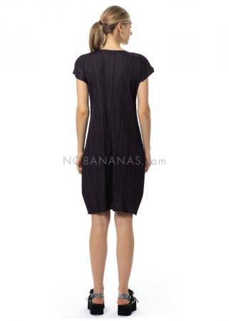 PLEATS PLEASE ISSEY MIYAKE, kurzes Kleid in Dunkelblau
