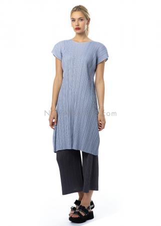PLEATS PLEASE ISSEY MIYAKE, kurzes Kleid in Hellblau