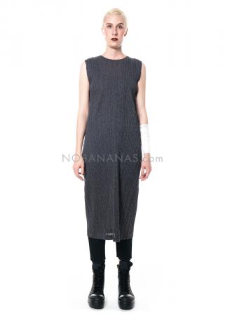 PLEATS PLEASE ISSEY MIYAKE, ärmelloses schlichtes Kleid in Dunkelgrau