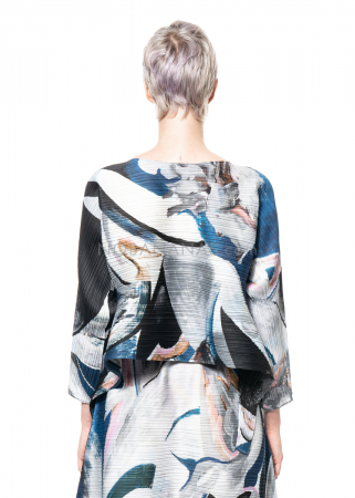 PLEATS PLEASE ISSEY MIYAKE, shirt with marble print in blue