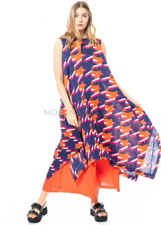 PLEATS PLEASE ISSEY MIYAKE, long sleeveless dress with colourful print