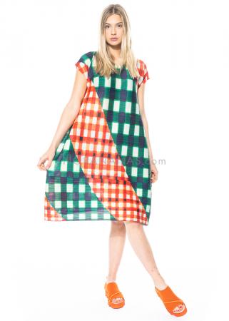 PLEATS PLEASE ISSEY MIYAKE, kurzärmliges Kleid mit