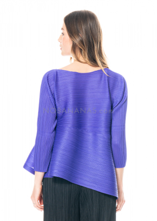 PLEATS PLEASE ISSEY MIYAKE, asymmetrical shirt in purple