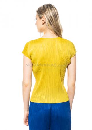 PLEATS PLEASE ISSEY MIYAKE, kurzärmliges Shirt mit