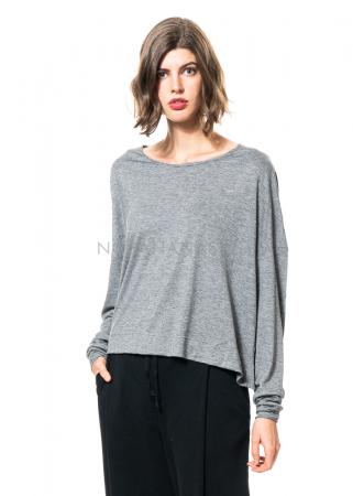 SCHIESS, kurzes onesize Shirt mit Rundhals grau-meliert