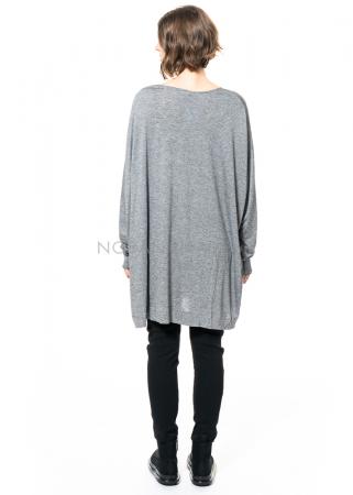 SCHIESS, langes Shirt in Einheitsgröße grau-meliert