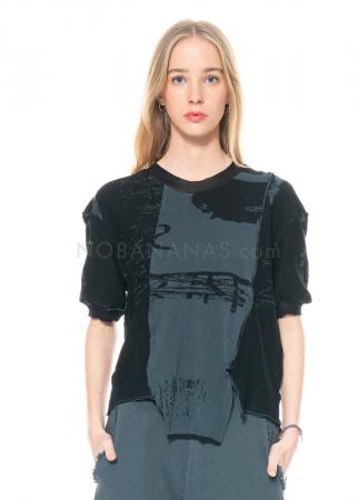 serien° umerica, Jaquard Shirt aus Seidenmix mit Print