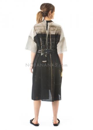 serien° umerica, silk shirt dress lucchetto print