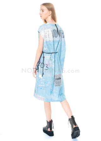 serien° umerica, Kleid mit weitem Schnitt und Print