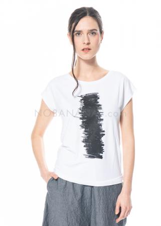 yukai, schmal geschnittenes Shirt aus Jersey mit Print