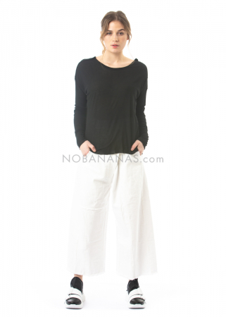 serien° umerica, wide leg pants with side pockets white