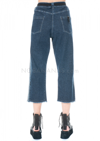 serien° umerica, cropped pants in denim with bright seams