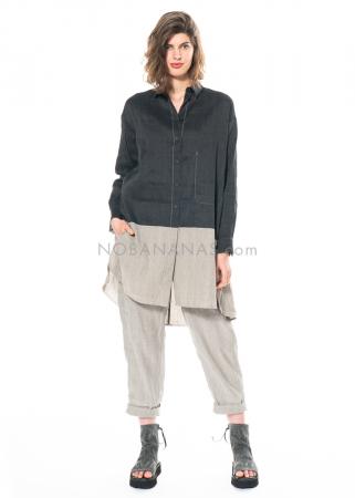 annette görtz, Bluse aus vorgewaschener Baumwolle/Leinenmischung Sola