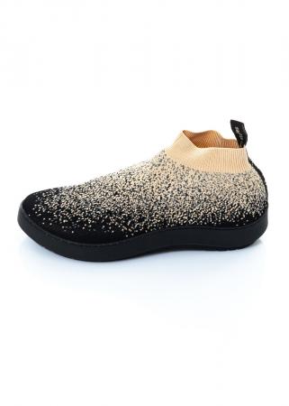 trippen, Sneaker Spexx mit Strick schwarz/beige
