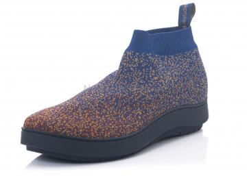 trippen, Sneaker Spexx mit Strick braun/blau