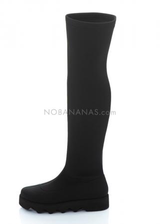 ISSEY MIYAKE x UNITED NUDE, overknee Stiefel aus Neopren