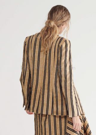 SYMETRIA, striped wrap jacket