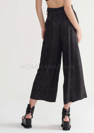 SYMETRIA, cropped pants with stripes and belt