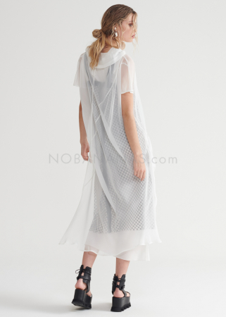 SYMETRIA, Tunika-Kleid aus Seiden-Georgette