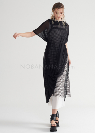 SYMETRIA, tunic dress from silk georgette