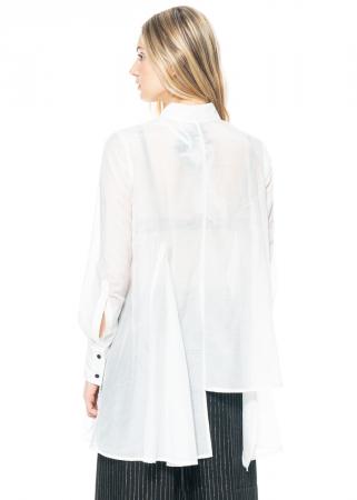 SYMETRIA, shirt with stepped hemline