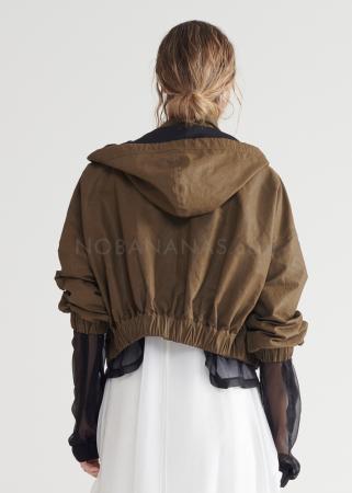 SYMETRIA, cropped jacket with hood