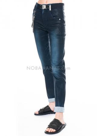 HIGH, 5-Pocket-Jeans Vault mit Ledereffekt-Behandlung