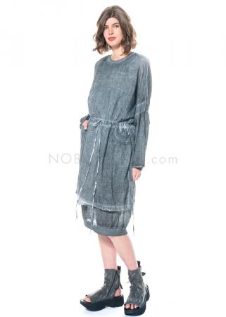 studiob3, transparentes oversized Kleid Vesnya ocean grey