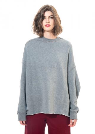 DRKSHDW by Rick Owens, oversized Wende-Sweatshirt grey melange