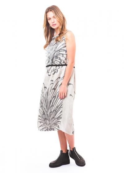 pas de calais, Vintage Satin Kleid 13-90-4473 weiß